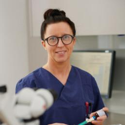 Diana Rothstein, Assistenz in der Praxis Dr. Girthofer in München